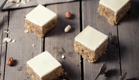 Peanut Butter White Chocolate Oatmeal Squares