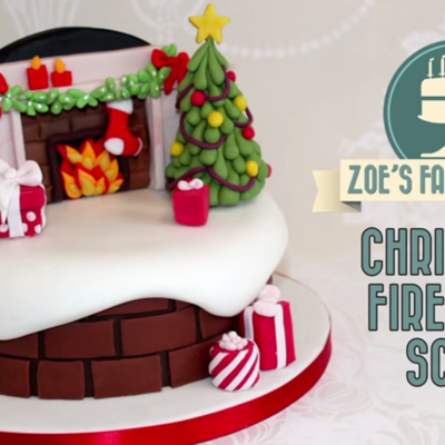 Snow Scene Chimney Cake on Cake Central
