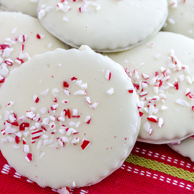 White Chocolate Peppermint Glazed Shortbread Cookies on Cake Central