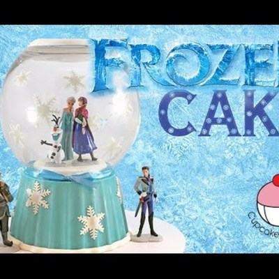 Frozen Snow Globe Cake on Cake Central