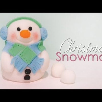 Christmas Snowman Cake Topper Tutorial on Cake Central