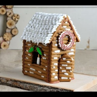 Gingerbread Log Cabin on Cake Central