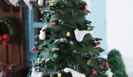 Fondant Christmas Tree and Shrubs