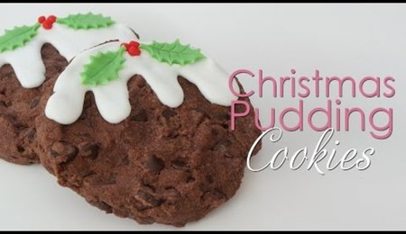 Christmas Pudding Cookies
