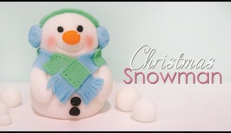 Christmas Snowman Cake Topper Tutorial