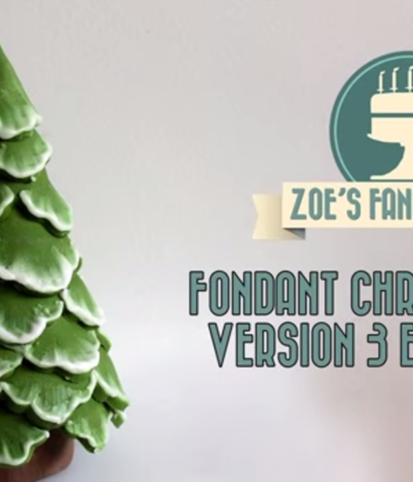 Brush Embroidery Fondant Christmas Tree