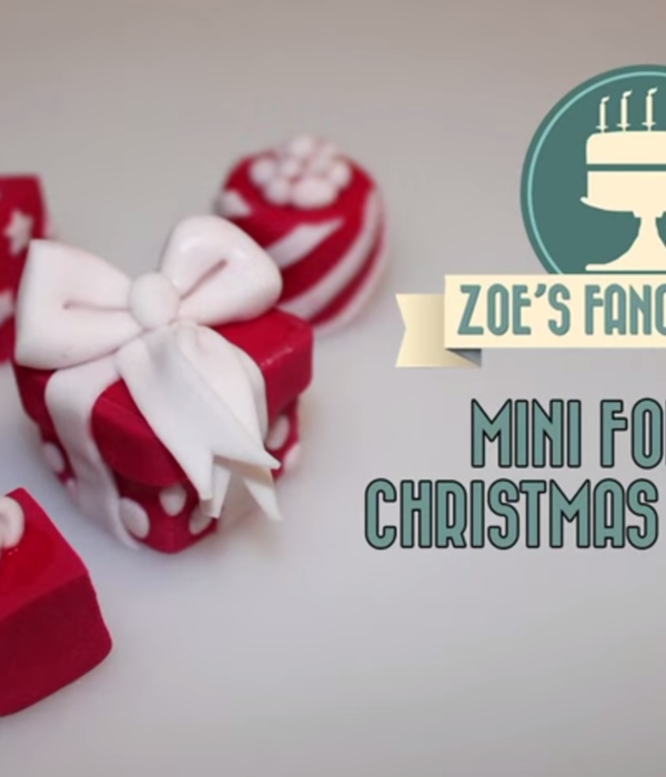 Miniature Fondant Gifts