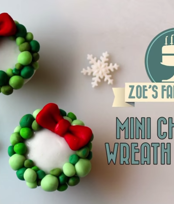 Mini Wreath Cupcakes