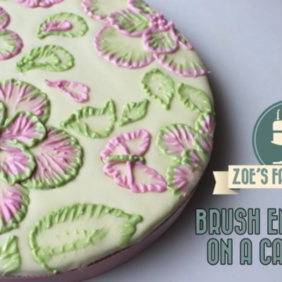 Royal Icing Brush Embroidery on Cake Central