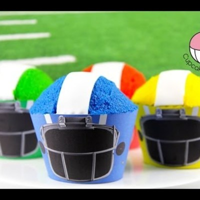 How To Make Simple Football Helmet Cupcakes on Cake Central