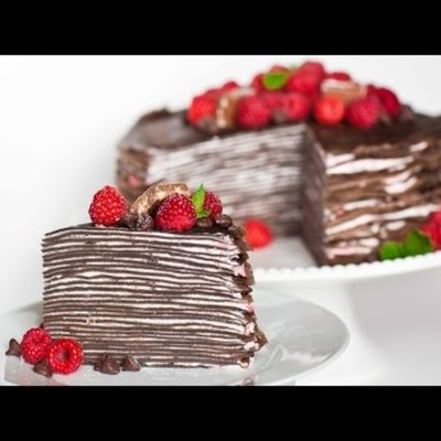 Chocolate Raspberry Crepe Cake on Cake Central