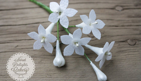 Wafer Paper Stephanotis Tutorial