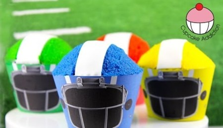 How To Make Simple Football Helmet Cupcakes