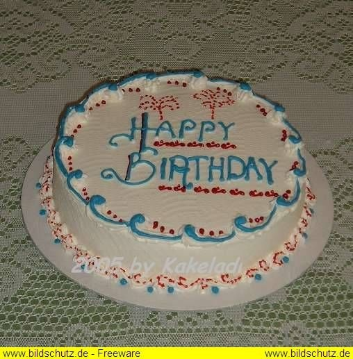 """This single layer 10"""" round is completely iced & decorated in b'cream.  Writing from tip 2; borders from tip 16."""
