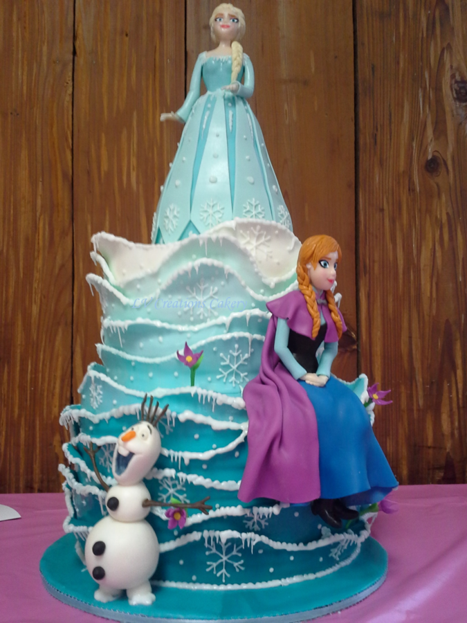 Frozen inspired cake! everything edible!!  <3
