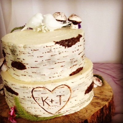Buttercream Birch Bark Tutorial on Cake Central