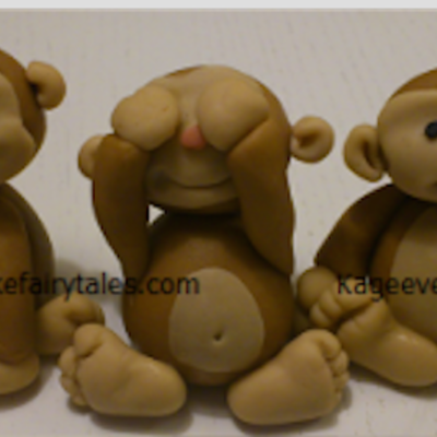 Fondant Monkey Figure Tutorial on Cake Central