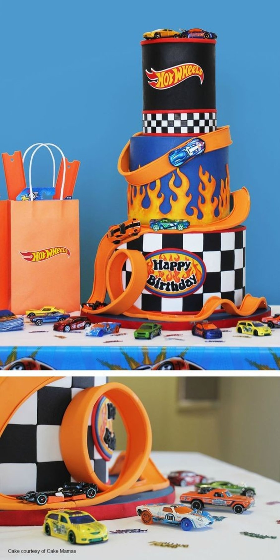Surprising Hot Wheels 3 Tier Birthday Cake Cakecentral Com Funny Birthday Cards Online Chimdamsfinfo