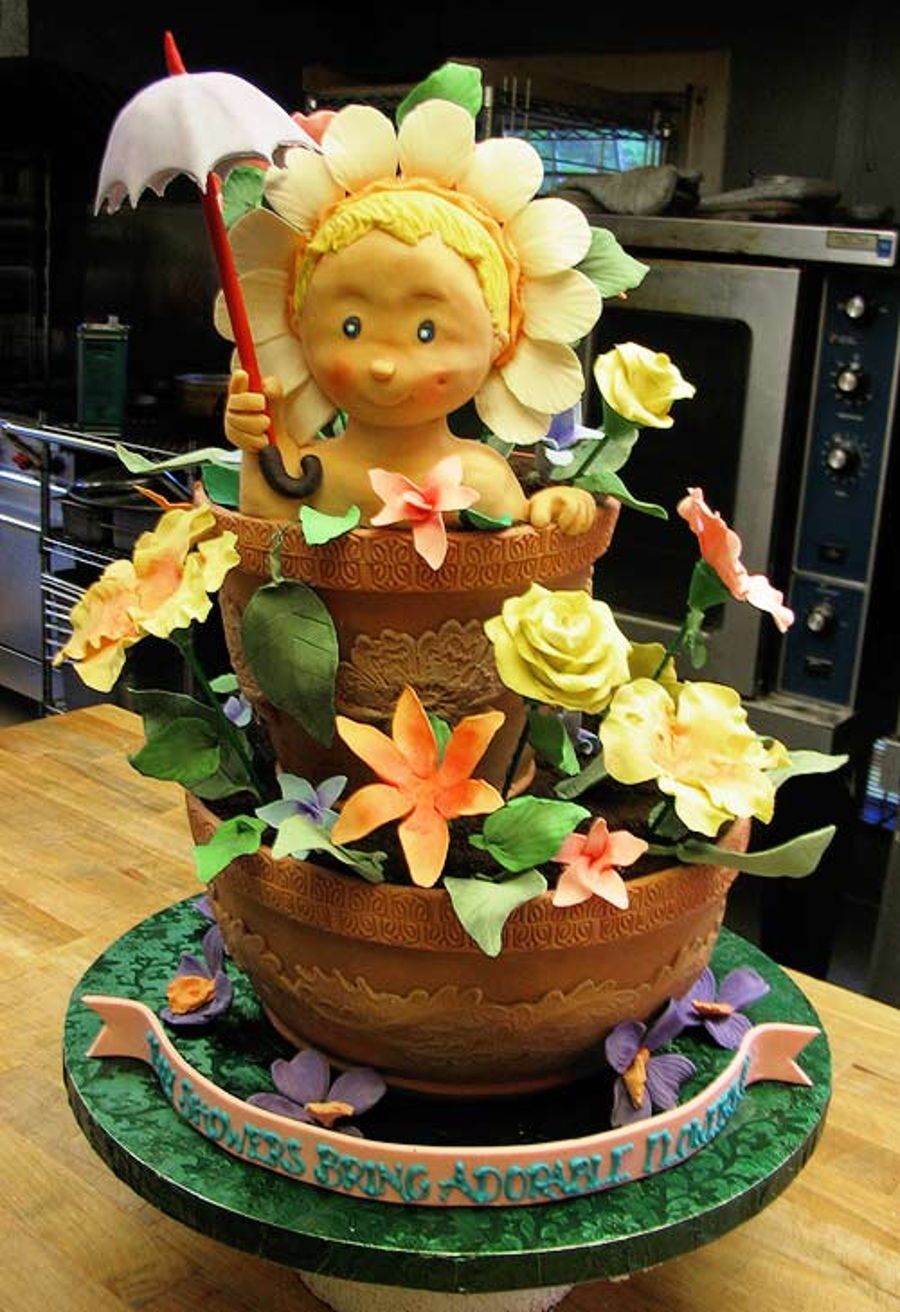 Step By Ways To Do Your Eye Makeup: Step-By-Step 3D Cake Sculpting (Baby In A Flower Pot