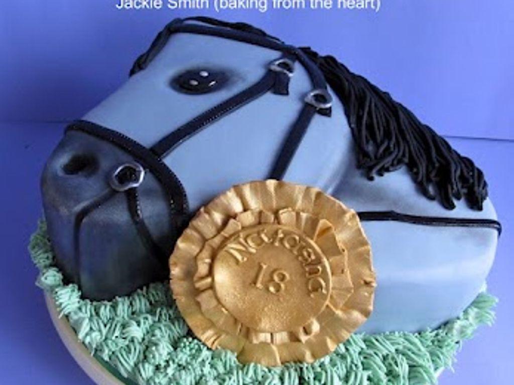 2d Horse Head Cake Cakecentral Com