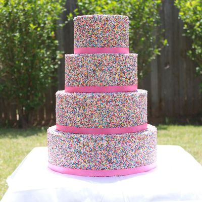 4 tier Sprinkle covered cake on Cake Central