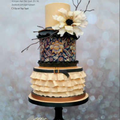 A Closer Look at Nancy Lagerwaard's Textile Wedding Cake on Cake Central