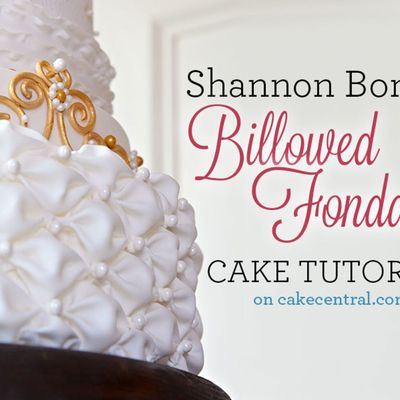 Billowed Fondant Tutorial on Cake Central