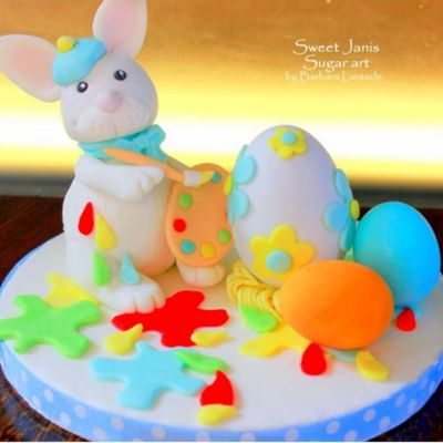 Bunny the Artist Cake Topper on Cake Central