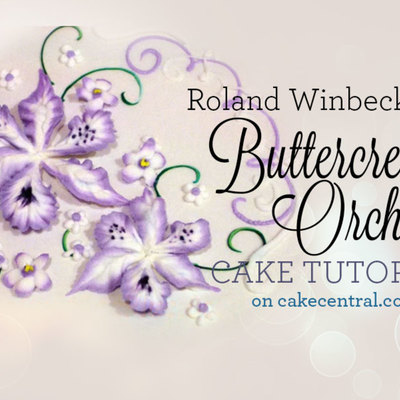 Buttercream Orchid Tutorial by Roland Winbeckler on Cake Central