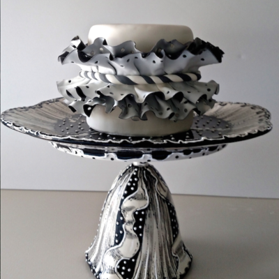 Colette Peter's Polka Dotted Ruffle Cake on Cake Central