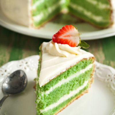 Green Velvet Cake and Cream Cheese Frosting on Cake Central