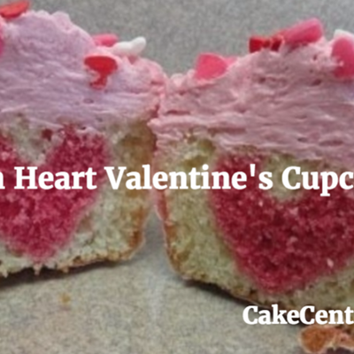 Hidden Heart Valentine's Cupcakes on Cake Central