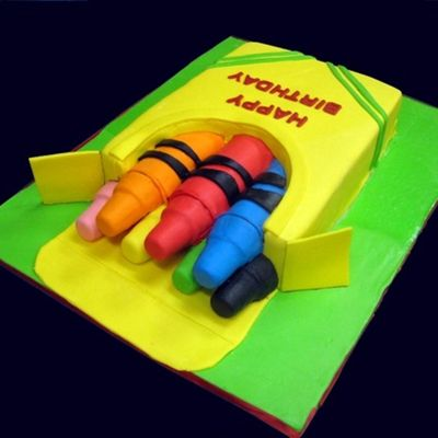 How To Make A Box Of Crayons Cake on Cake Central