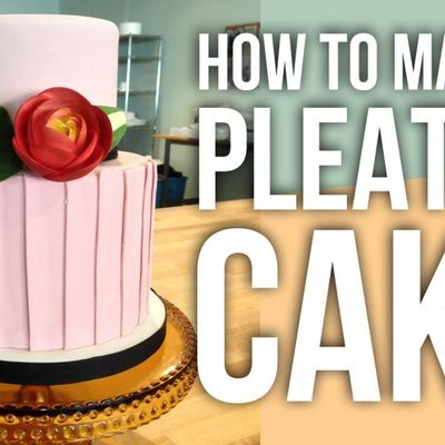 How to Make a Fondant Pleated Cake on Cake Central
