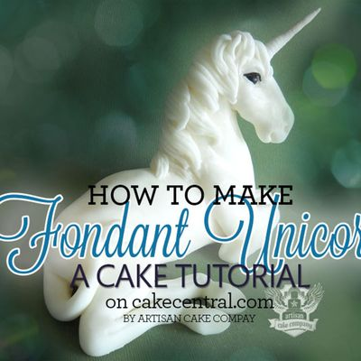 How to make a fondant unicorn cake topper on Cake Central