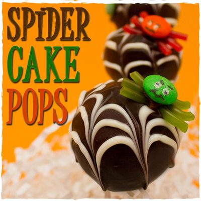 How To make Spider Cake Pops with Webs on Cake Central
