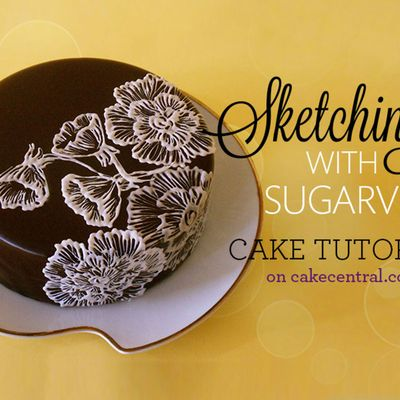Sketching with SugarVeil Tutorial on Cake Central