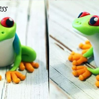 Tree Frog Cake Topper Pictorial on Cake Central