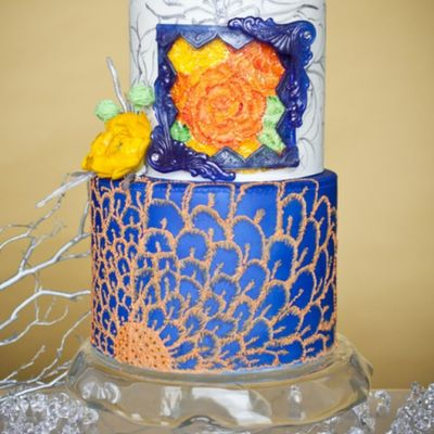 Tutorial: Isomalt Photo Frame on Cake Central