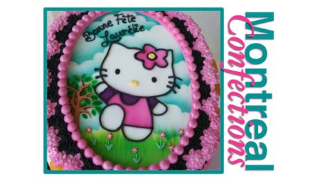 How To Make A Hello Kitty Cake Using Your Airbrush
