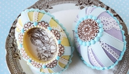 How to Make Cast Sugar Easter Eggs with Fondant Appliqués