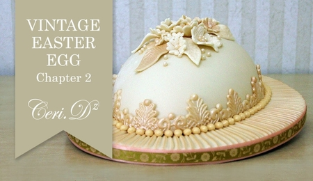 Vintage Easter Egg Cake Tutorial