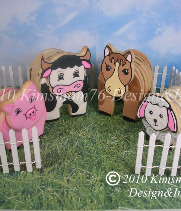 3-D Farm Animal Cookie Pattern