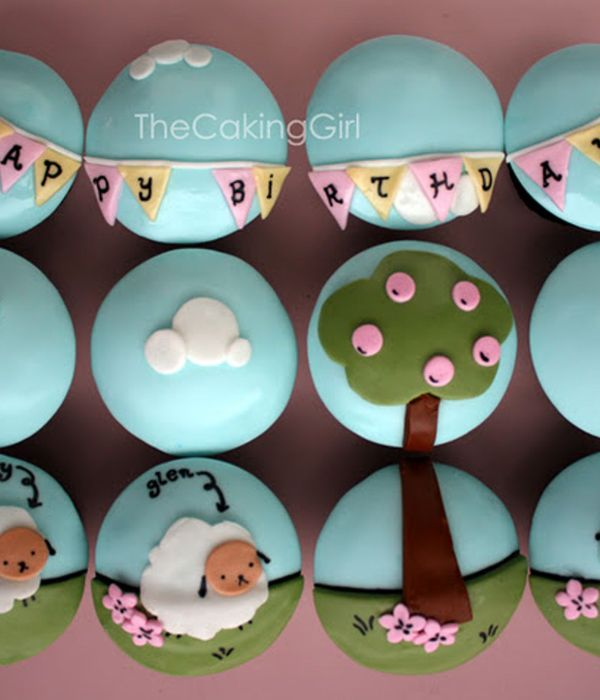 Cute Sheep Cupcakes Tutorial