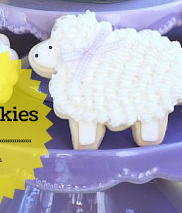 Decorated Lamb Cookies