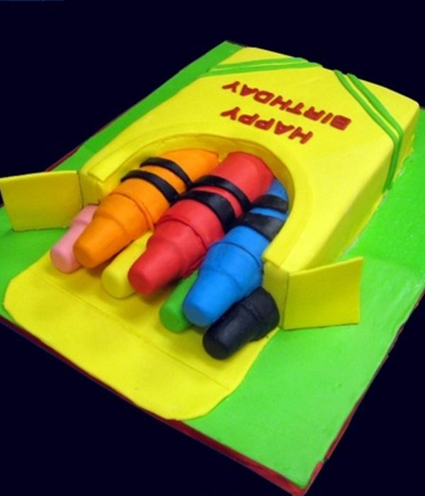 How To Make A Box Of Crayons Cake