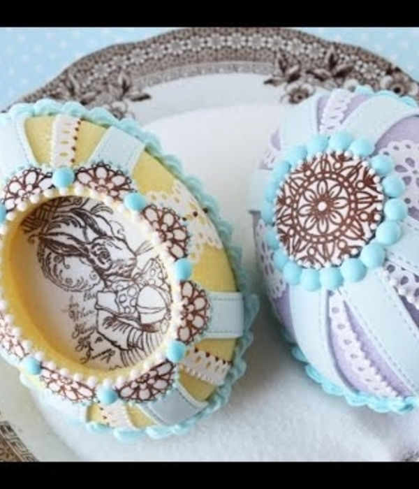 How to Make Cast Sugar Easter Eggs with Fondant Appliqu&...