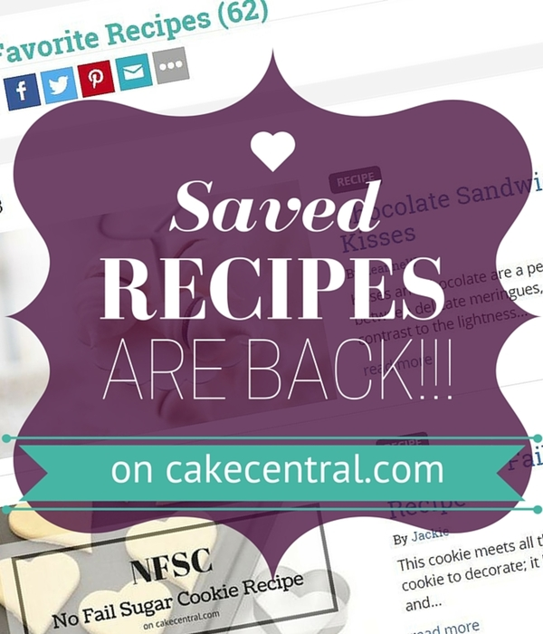 Saved Recipes Are Back!