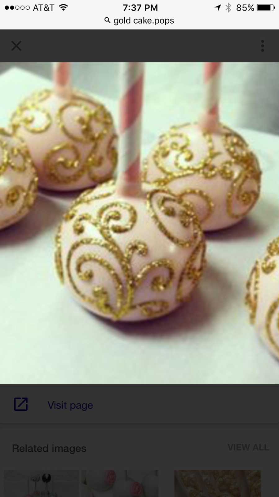 Decorating Cake Pops With Glitter : Glitter Cake Pops - CakeCentral.com