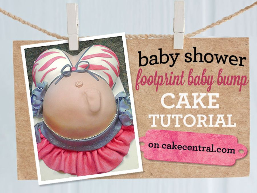 How To Make A Pregnant Belly Cake With Footprint